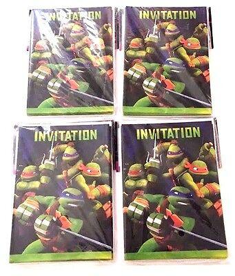 64 TEENAGE MUTANT NINJA TURTLES INVITATIONS  64 ENVELOPES  - Ninja Turtle Birthday Invitations
