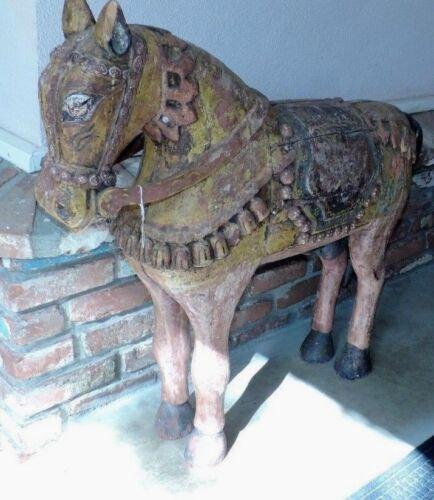 SPANISH PAINTED  WOOD HORSE