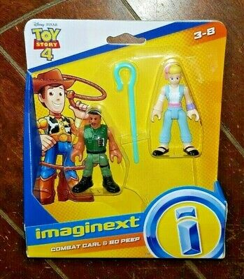 Disney Fisher Price Toy Story 4 Imaginext: COMBAT CARL/BO PEEP Figures! Ages 3-8