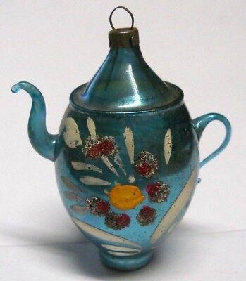 Vintage 1930`s Mercury Glass Tea Pot Christmas Ornament