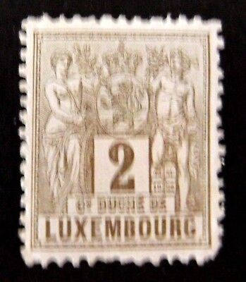 Luxembourg-1882-2c issue-MH Good gum