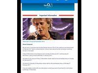 2 Rod Stewart tickets £160-face value