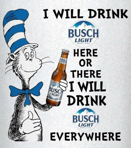Cat in the Hat Busch light Beer bottle STICKERS DECALS tool box refrigerator