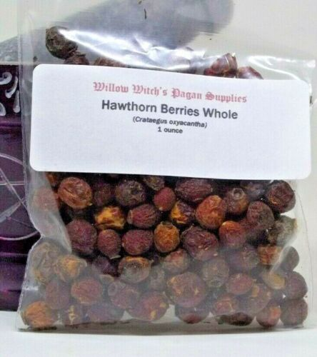 Hawthorn Berries whole 1 ounce Wicca Witchcraft Hoodoo Voodoo Pagan Herb