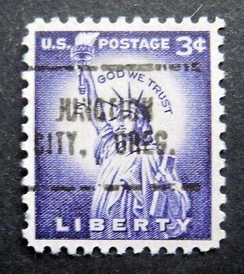 SC  1035  3 CENT LIBERTY ISSUE, PRECANCEL, JUNCTION CITY, OREG. BA9