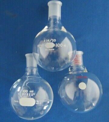 Brand Name Single Neck Round Bottom Flask 1420 100ml 50ml 25ml 10ml Pyrex Ace