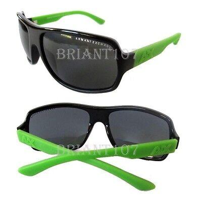 New Armani Exchange Womens Sunglasses AX4025 Black-Green/Gray $90