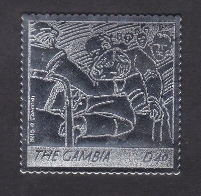 Gambia 2005 Death of Pope John Paul 40d - Silver Foil - MNH (B8H)