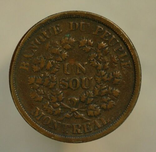 Canada 1838 Sou Agriculture and Commerce LC-5A3 VF A158