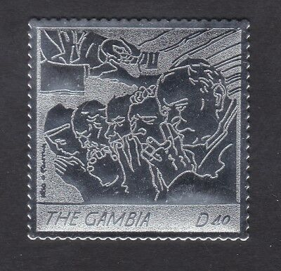 Gambia 2005 Death of Pope John Paul 40d - Silver Foil - MNH (B7B)