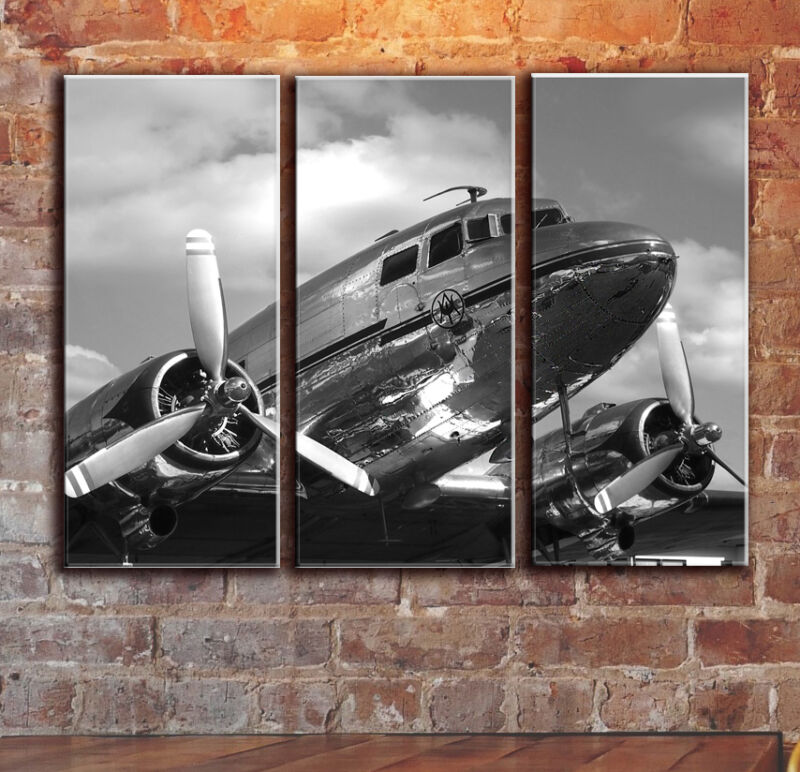 Plane AircraftAirplaneCanvas Panels Wall Art AviationFramed Canvas Picture