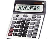 OFFIDIX Large Key Office Desktop Calculator (NEW)