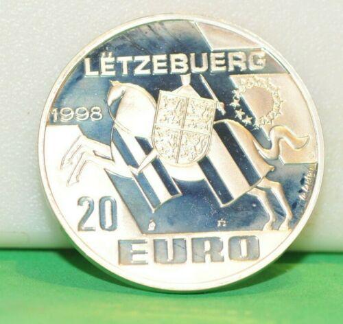 Luxembourg 20 Euro 1998 Silver coin proof Echternach