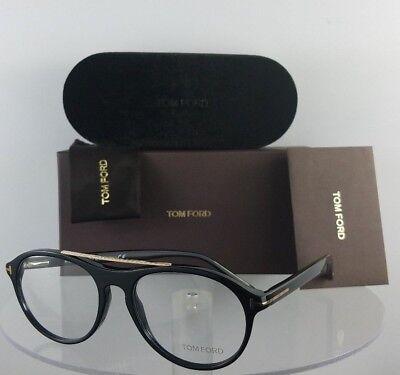 Brand New Authentic Tom Ford Eyeglasses FT TF 5411 001 53mm Black Gold Frame