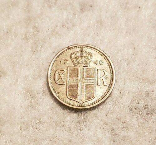 1940 Iceland 10 Aurar coin