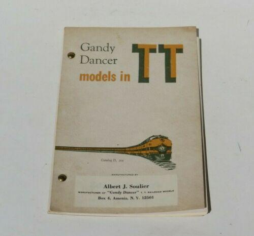 VINTAGE GANDY DANCER TT GAUGE MODEL TRAIN Brochure Catalogue Catalog