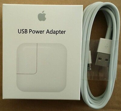 iPad 3/4 Wall Charger USB power Adapter 12W  +6 ft Lightning Cable