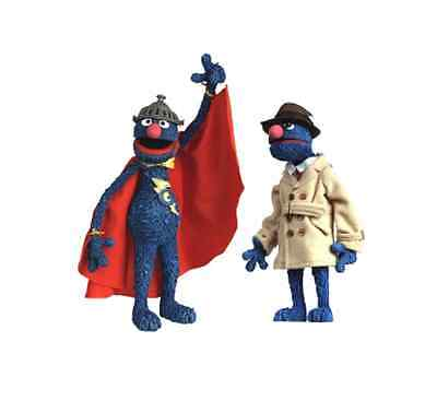 WW 2005 Palisades Toys Exclusive: Sesame Street - SUPER GROVER Figure & Playset (Grover Toy)