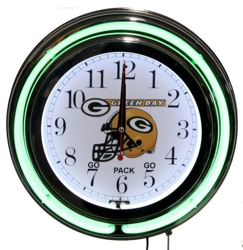 Green Bay Packers Neon Clock Quartz New Lifestyle Lighting