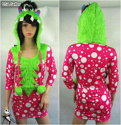 Girls Monster Halloween Costumes (Halloween Sexy Girl Furry Melody Monster Cosplay  Carnivl Party Stage Costume)