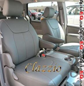 Clazzio Synthetic Leather Seat Covers (3 Rows)   2011-2019 Toyota Sienna Minivan
