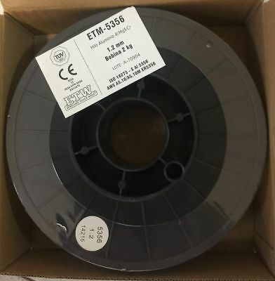 1 bobina 2 Kg Alambre de Aluminio 5356 para Soldadura MIG 1,2mm...