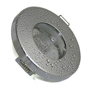 Faretti Bagno DA Incasso Cromo IP65 12volt 230volt Versione PER 50mm Lampadina  eBay
