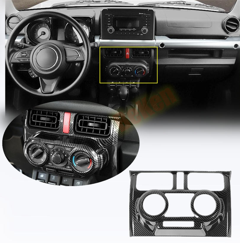 Carbon Fiber ABS Manual Air Condition Vent Outlet Cover For Suzuki Jimny 2019-20