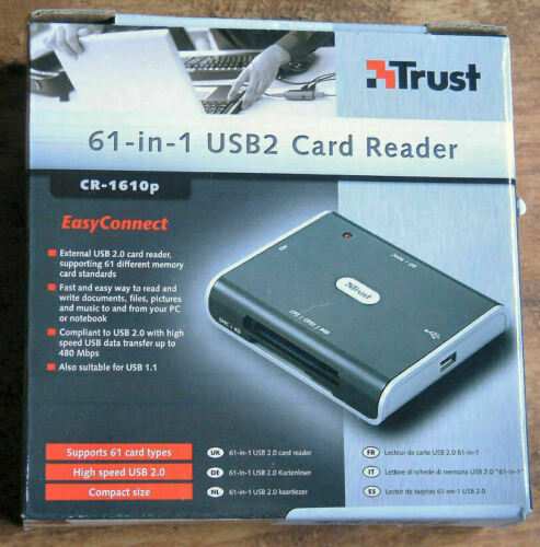 NEW 61 Different Memory Card Reader For Smartmedia, CompactFlash, SD, MMC & More