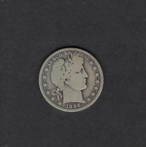 US 1896-O Barber Silver Half Dollar Coin in VG Very Good Condition