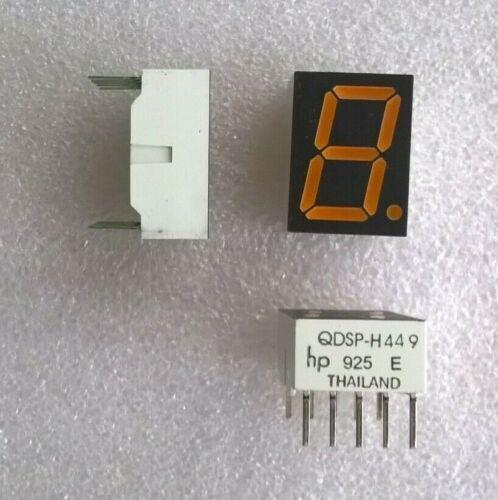 80 pcs of Hewlett-Packard QDSP-H449 7-segment Display. New Old Stock