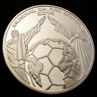 Silver Coin WORLD CUP Brazilian Copacabana Beach Classical Latino Russia 2018 UK