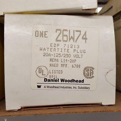 Woodhead 26w74 Plug - Watertite Neotex Yellow Rubber 1301470025