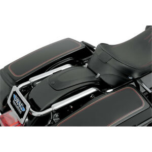 Drag Black Leather Rear Fender Skin Bib For Harley Touring 1997-2017