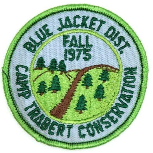 1975 Camp Trabert Blue Jacket Tecumseh Council Patch Boy Scouts BSA Ohio