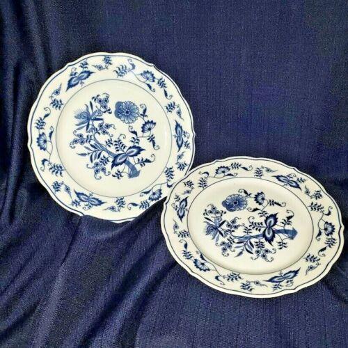 """Set of 2 Blue Danube  8 3/4"""" Salad Plates"""