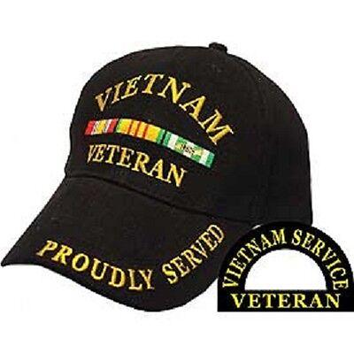 VIETNAM VETERAN RIBBON BALL CAP - NEW - NEVER WORN