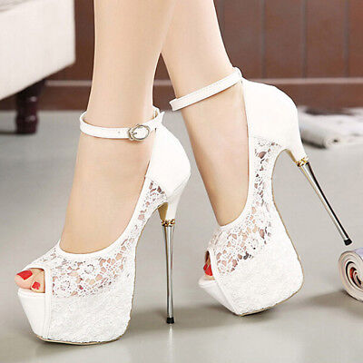 Women Sexy Pumps Platform Strappy Buckle Stiletto High Heels Party Wedding Shoes New Wedding Bridal Womens Shoes