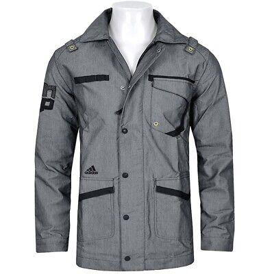 Adidas Dwight Jacket Herren Parka Jacke Mantel Trench Coat Miltary grau/schwarz Herren Parka Mäntel