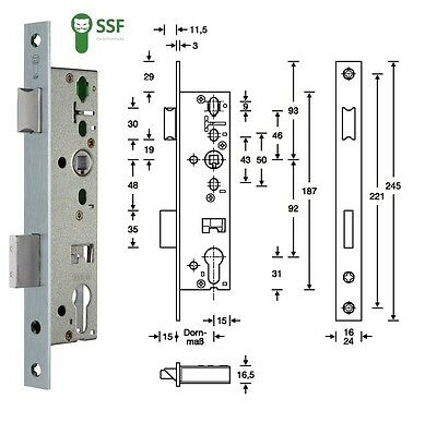 Rohrrahmen-Einsteckschloss PZW 24/35/92/8 mm DIN links / rechts # 100208