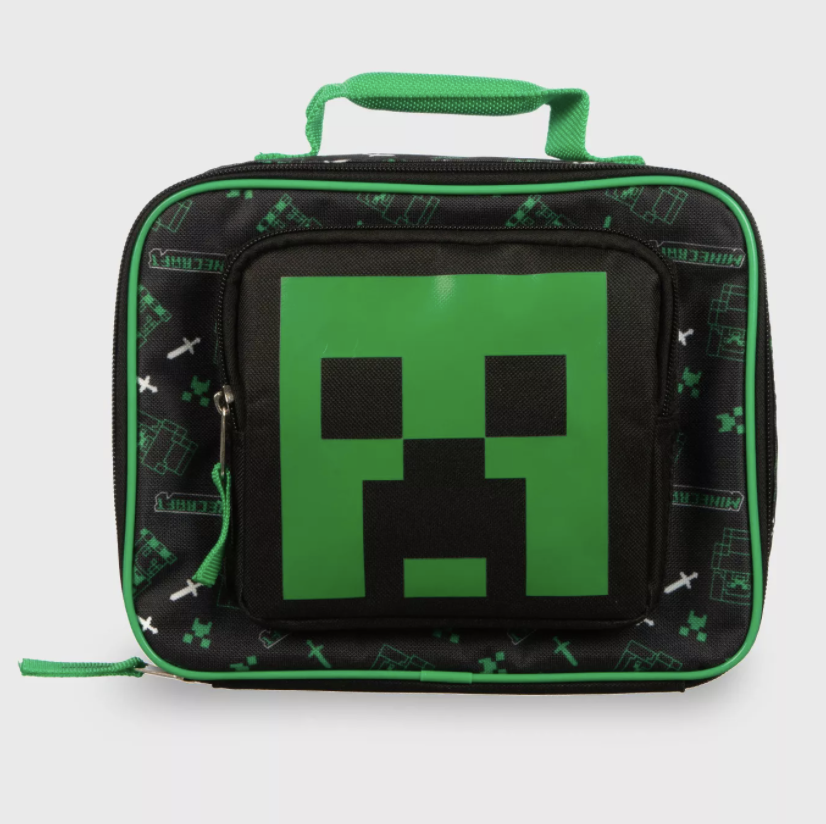Minecraft School Soft Lunch Box Bag Insulated Tote Kit Boys