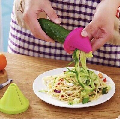 Rallador Cortador de Verduras en Espiral Verdura manual Calabacín Pasta