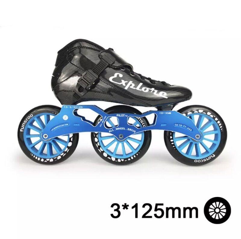 Speed Inline Skates Carbon Fiber Competition Roller Skate 3*125mm Wheels