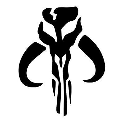 Star Wars Mandalorian Skull Logo Symbol Mythosaur Vinyl Decal Sticker For Car
