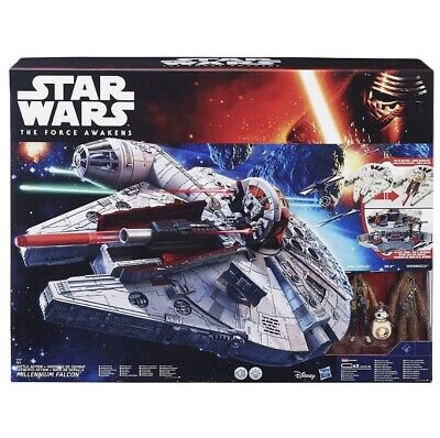 Star Wars: The Force Awakens Battle Action Millenium Falcon**NERF**sounds/lights