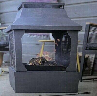 La Hacienda Large Square Fireplace Fire Pit Log Burner🔥 BRAND NEW ✅ & FREE 🚚💨