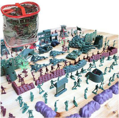 ELEGIANT 500Pcs Military Soldier Toy Kit Set Army Men 4cm Figures & Accessories