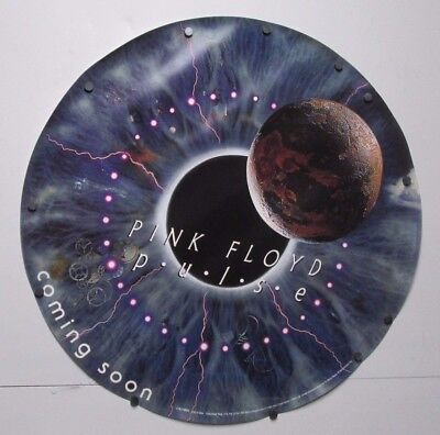 1995 Pink Floyd Pulse Coming Soon Round Poster Eyeball Sony Music