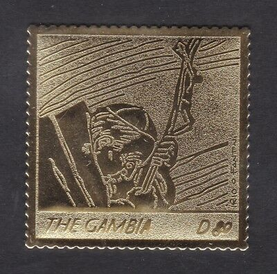 Gambia 2005 Death of Pope John Paul 80d - Gold Foil - MNH (A7G)