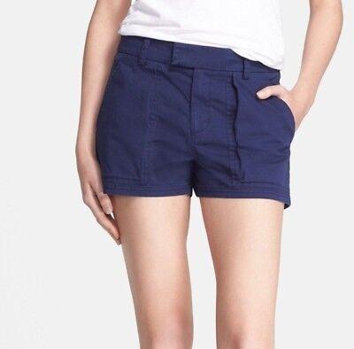 NWT Vince Patch Pocket Shorts in Dark Indigo Blue [SZ 2] #C381